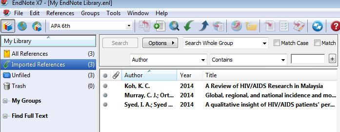 Importing to Endnote Note: You may