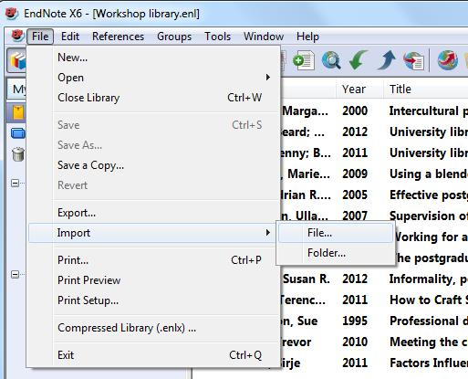 7. Import a saved PDF 7.1 An e-journal article with a DOI This is a very simple method of creating an EndNote record from a PDF.