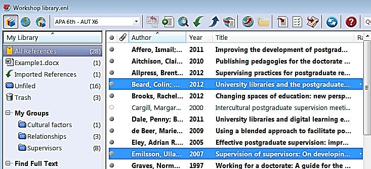 In your Word document, position the cursor at the end of the second paragraph (add an extra space before the full-stop) as this is where we are going to insert the citations.