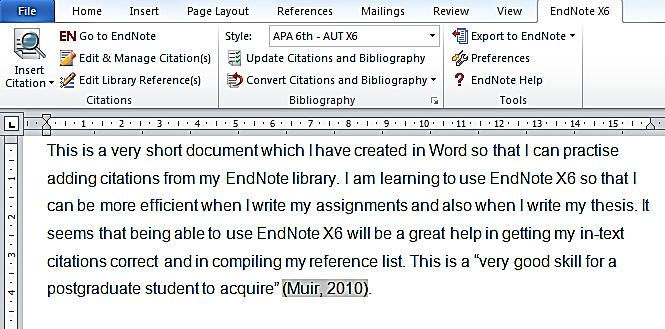 11.4 Edit citations It is possible to edit citations once they are inserted into your document (i.e. the in-text citations ).