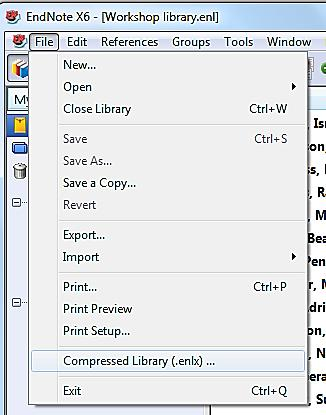 12. Backup your EndNote library Your EndNote library will soon become an important and valuable information resource that you cannot afford to lose so it is important that, right from the start, you
