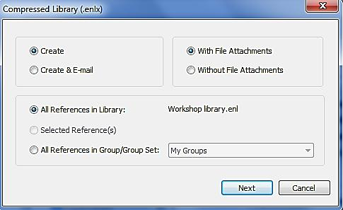 1 Important points about creating a backup There are two components: your EndNote library and its associated DATA folder (contains any saved PDFs, information about your groups and various other