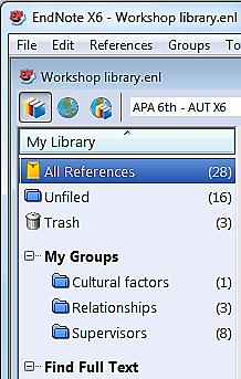Working on Computer-2 Open EndNote and create a new empty library with the same name as the one you have on Computer-1.