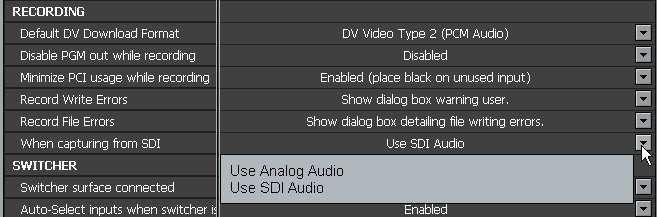 SX-SDI OPERATION NOTE: SX-SDI REQUIRES VT[4] version 4.6 or newer to function Launch VT[4] and in the Preferences Menu, under AUDIO/VIDEO SIGNAL, change the option SDI Card Installed to Installed.