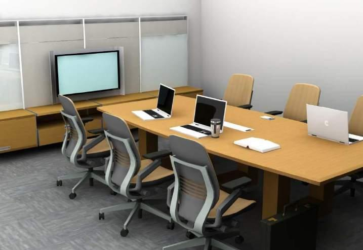 SMALL MEETING ROOM Specs Footprint: 14 x 19 266 SF Budget Range: Technology: Audio Conf Phone $14,000 - $18,000 Seats: Integrated Audio Conf $22,000 - $28,000 6-8 Integrated Audio and $45,000 -