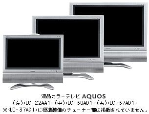 Sharp Launched the Sales of New LCD TV Sets on July 9 LC-37AD1 and