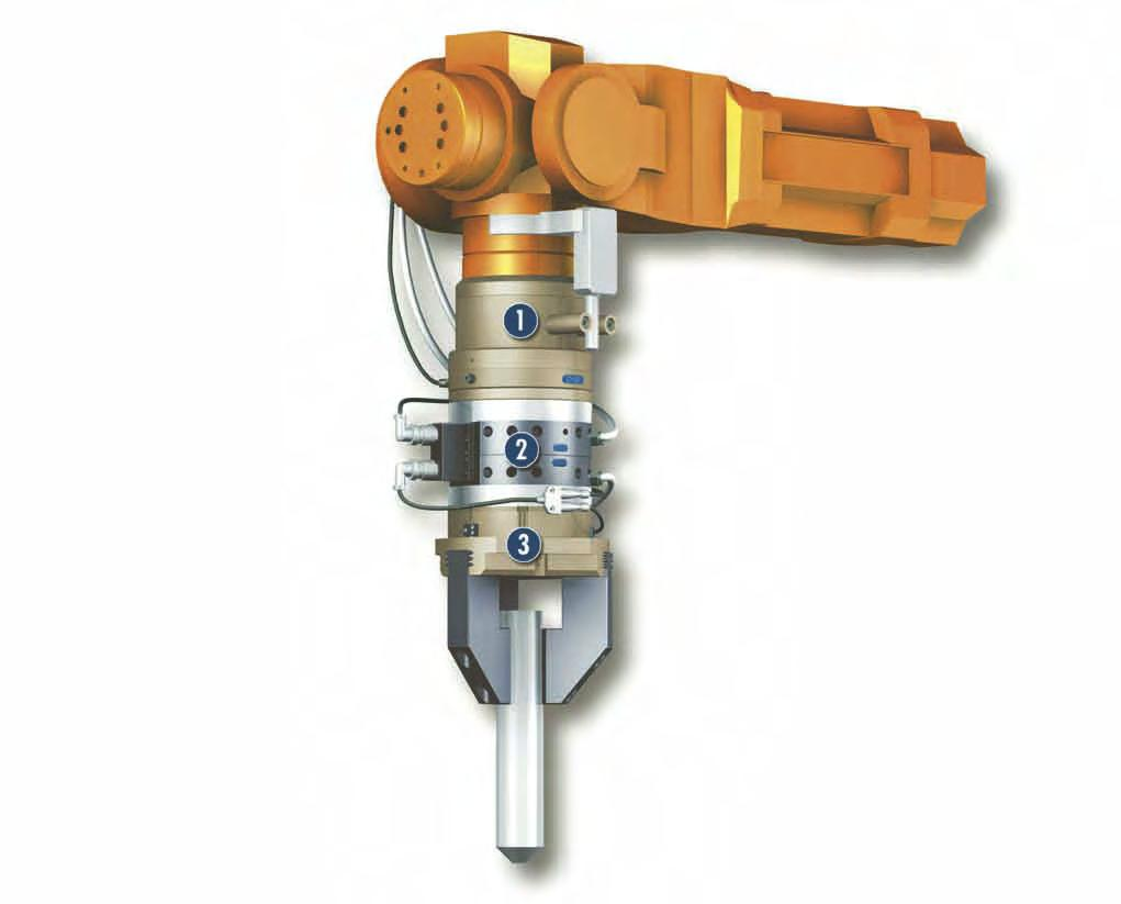 DDF Sizes 031.. 160 Max. speed Air feed-through 120 1 min 2x.. 4x Electrical feed-throughs Up to 10x Application example Insertion tool for assembling small to medium-sized axes.
