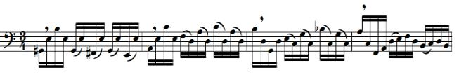 33 suggestion would be to breathe after downbeats of sequential passages, as shown in Figure 21. This can allow a performer to effectively bring out the harmonic changes preceding each breath.