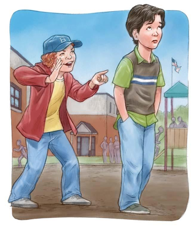 Bobby, though, who was new in school, yelled out to the whole class that Francis was a girl s name! At recess, Bobby made fun of Frank.