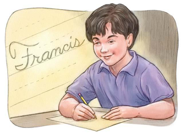 Glossary Sometimes, during the perfectly good week that followed, Frank s friends called him Francis. Frank liked having two names, one of them from a real hero.