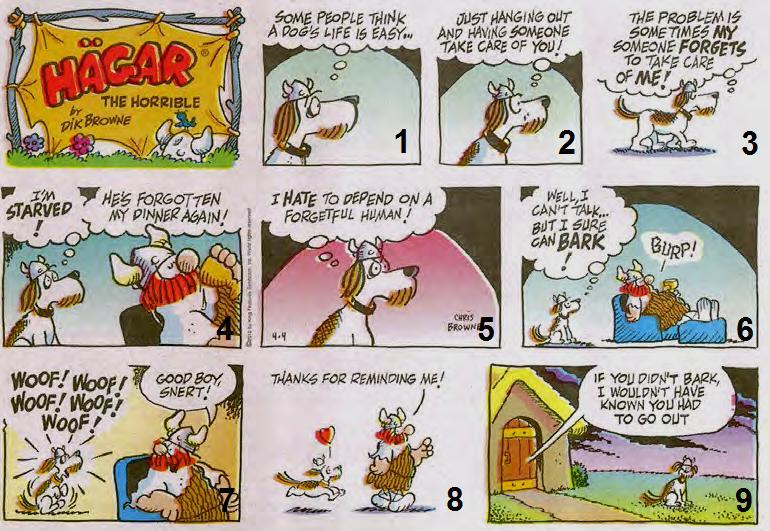 SECTION C LANGUAGE (40 MARKS) ANSWER ALL THE QUESTIONS QUESTION 3 VISUAL LITERACY 3.1 ANALYSING A CARTOON Study the cartoon below and then answer the questions that follow. 3.1.1 Refer to frame 3.