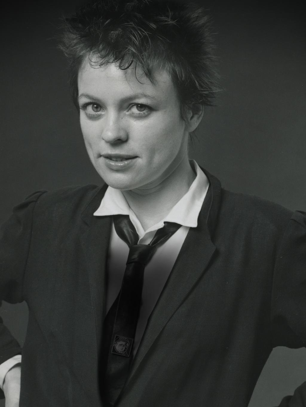 LEAVE YOUR LEGACY TO PIONEERING ART. LEAVE IT TO LAURIE ANDERSON TO SING OUR STORIES IN BOLD NEW KEYS.
