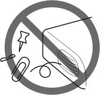 2. Do not install or place this unit in a bookcase,