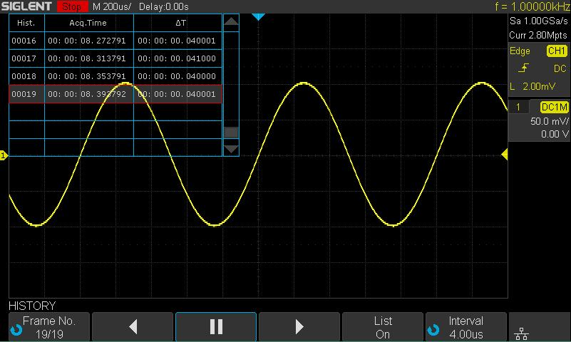 Use Sequence Mode Sequence is also a kind of acquisition mode, which does not display waveform during sampling process.
