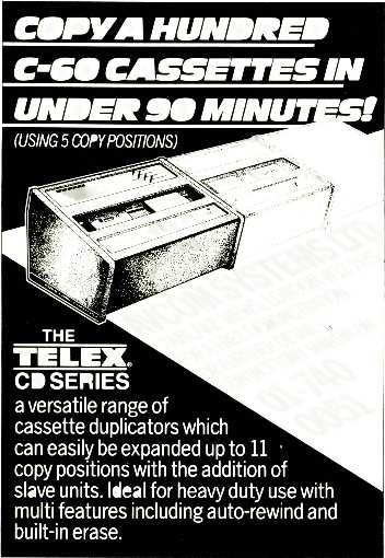 COPPA HUNDRED C -60 CASSETTES IN UNDER 90 MINUT! (USING 5 COPY POSITIONS) 7 Olympia 2 Wednesday 24 25 26 TELEX.