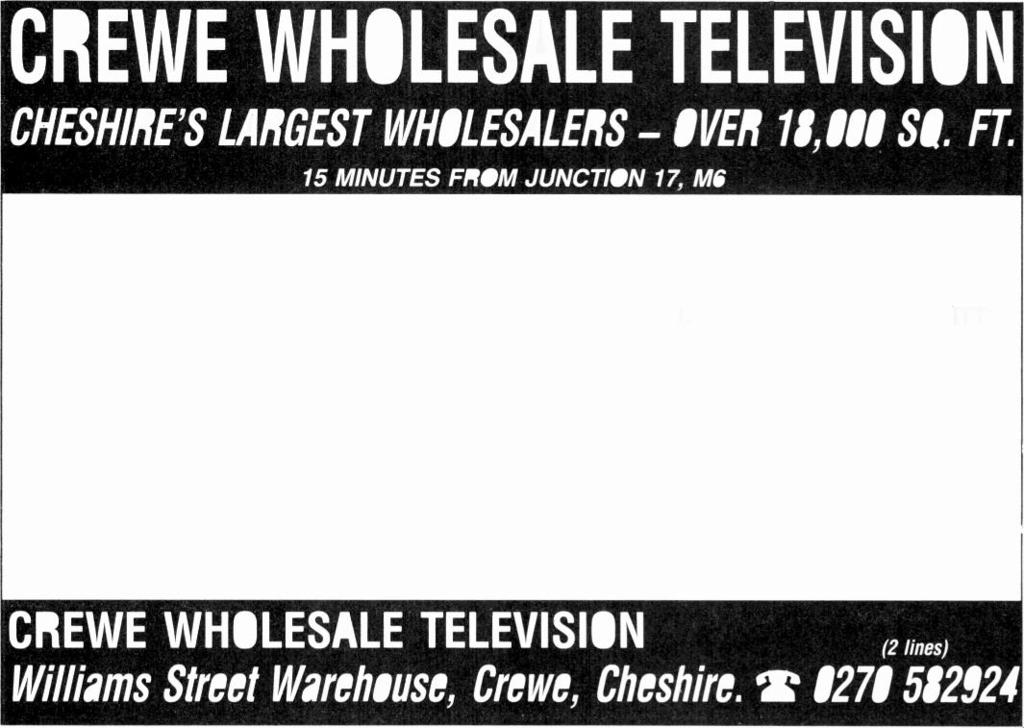 BARRY TV SERVICES WHOLESALE BUYING TV'S and VIDEO'S? THEN LOOK NO FURTHER QUALITY - QUANTITY AND A QUESTION OF PERSONAL SERVICE IS GREED.
