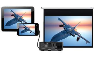 Easy connectivity - MHL to whet your audiences appetite and stimulate discussion. Easily connect to a laptop, PC, games console or DVD player with HDMI.