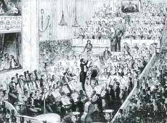 Jullien s Promenade Concerts 1850. Royal Opera House, Covent Garden.