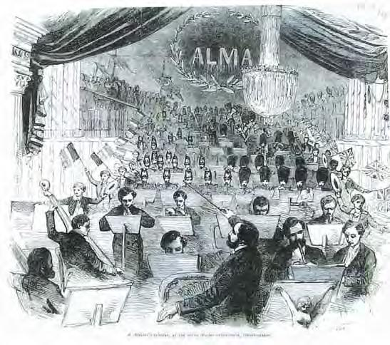 foreground). A Concert for the Crimea (1855).