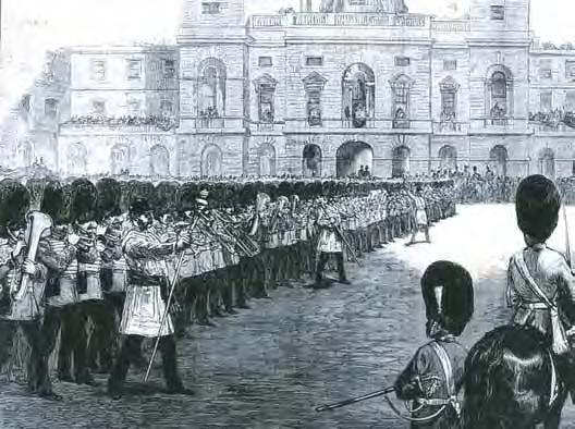 Trooping the Colour 1875.