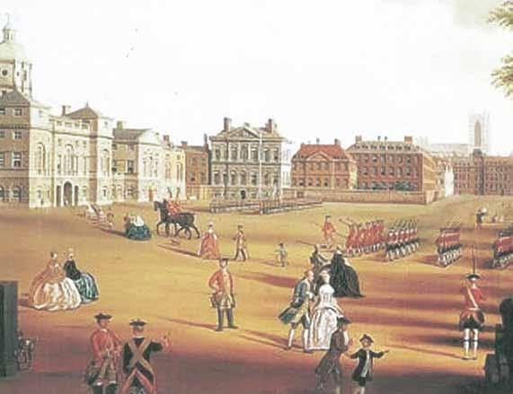 Hautbois on Horse Guards - c. 1750.