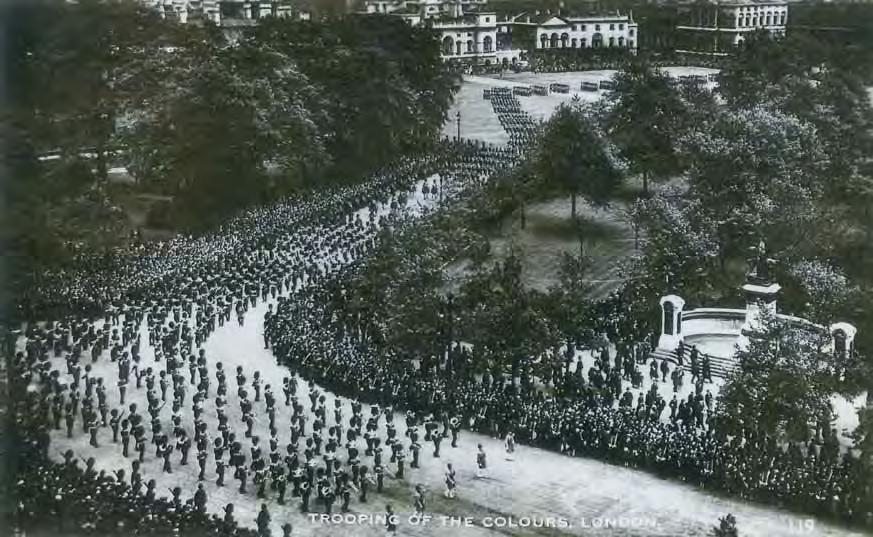 THE KING S BIRTHDAY PARADE 1936: HOW THE MASSED BANDS USED TO MARCH DOWN THE MALL.
