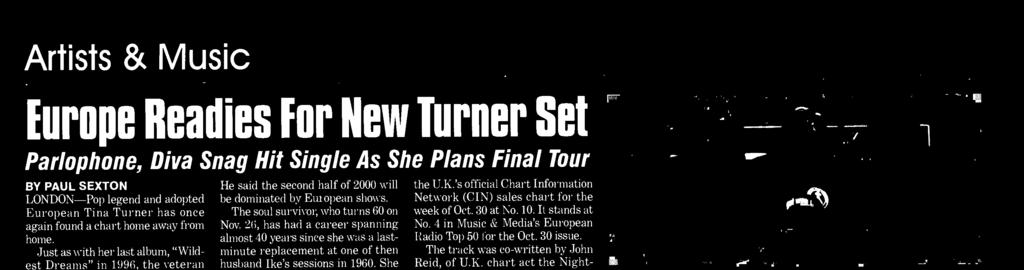 27 in Paris at which she announced plans for her farewell arena tour. In advance of that, her manager, Roger Davies, told Billboard the extensive itinerary will open in March in the U.S.