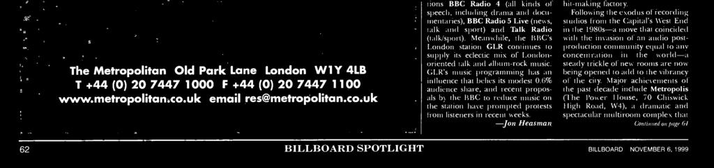 Meanwhile, if it's talk you're after, check out London stations News Direct 97.