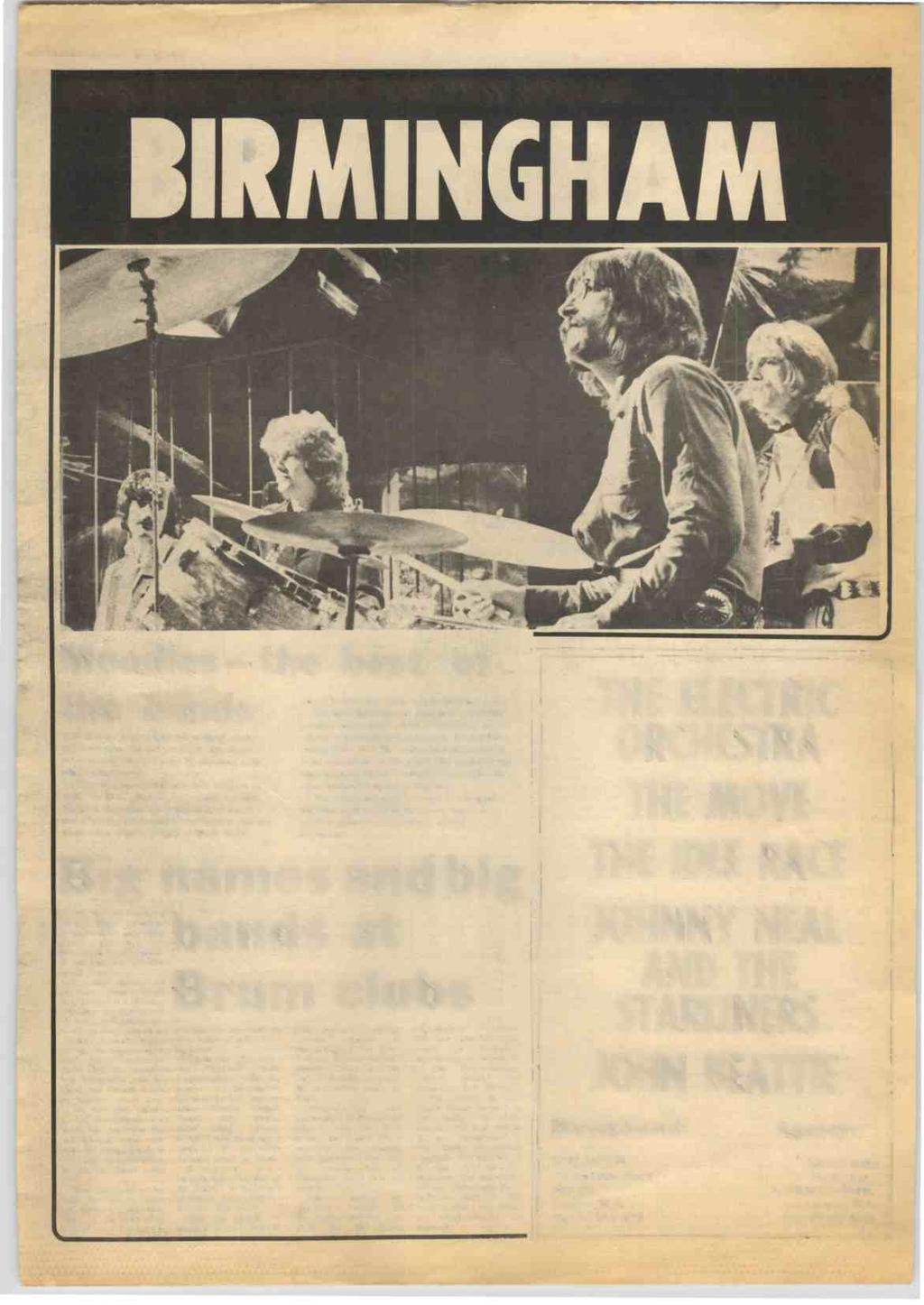 RECORD MIRROR, May 15, 1971 11 SPOTLIGHT ON YOUR TOWN RM SPECIAL BIRMINGHAM Moodies the best of the bands THE Moody Blues (right) are without doubt the most powerful and musically significant band to