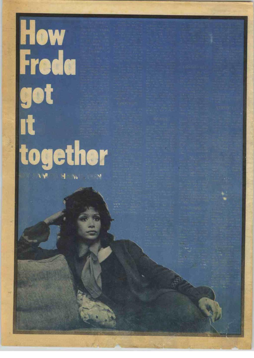 "24 RECORD MIRROR, May 15, 1971 How Freda got it togeth ""BRIAN Holland is a very nice, easy-going, lovable kind of a person - easy to talk to and to get along with. Nice people."