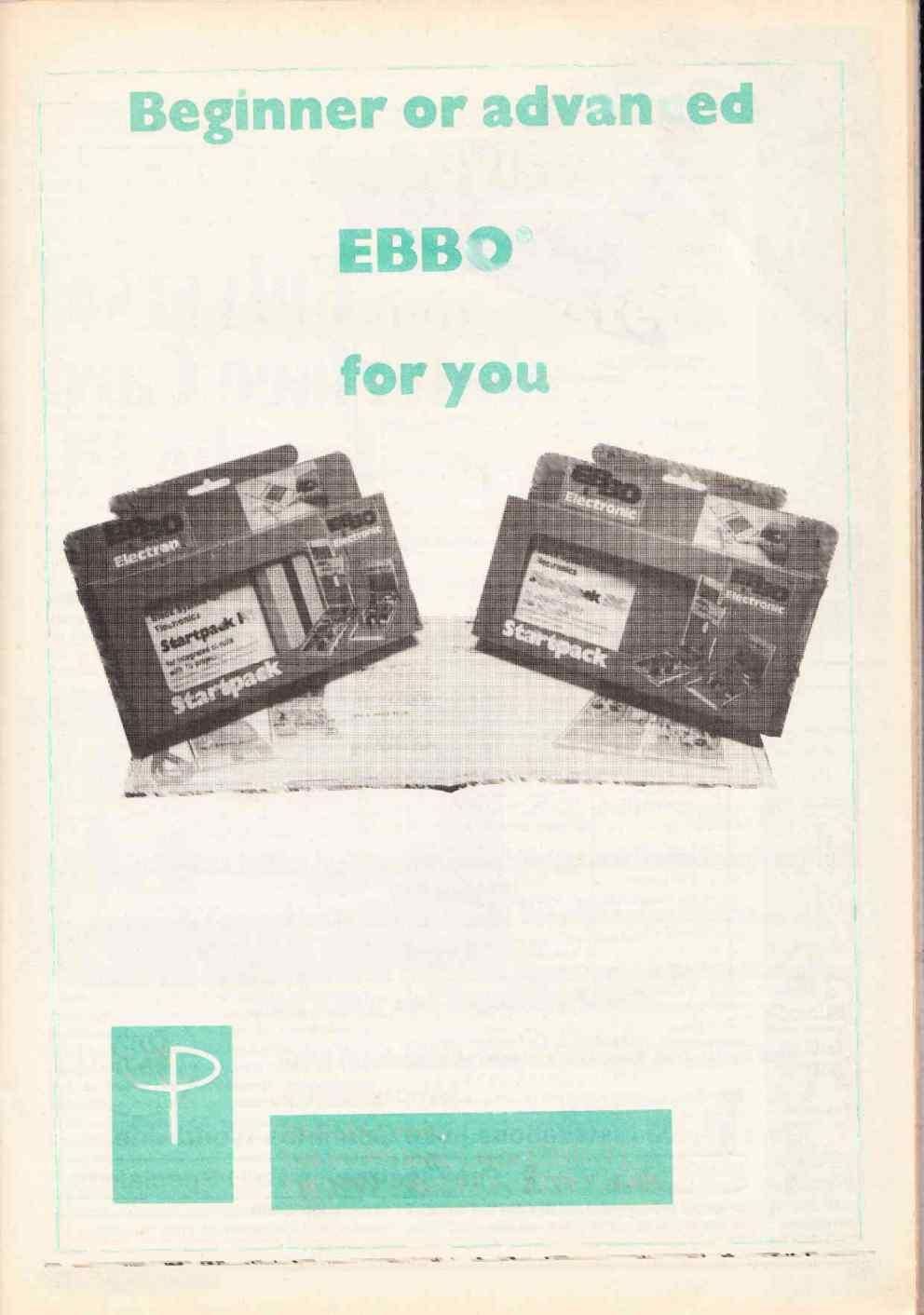 Beginner or advanced hobbyist EBBO is the right system for