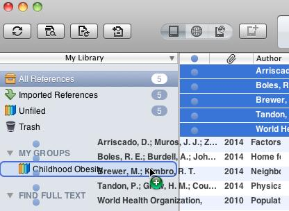 EndNote X7 uses a combination of Groups and Group Sets to help you organize and categorize your citations: Group: A group of citations (Folders) Group Set: A group of groups