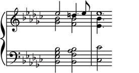 184 the music instinct Figure 6.11 The deceptive cadence in the Prelude in EH from Book I of Bach s Well-Tempered Clavier.