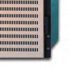 The full range of I/O options is available in the 288 frame, including fiber and analog