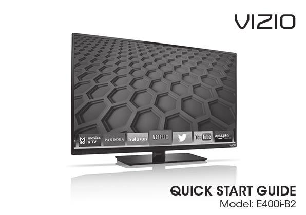 PACKAGE CONTENTS VIZIO LED HDTV with Stand Remote Control with
