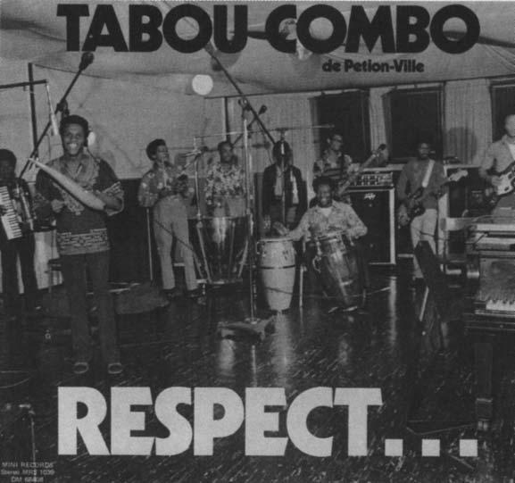 ) Tabou Combo in a Brooklyn recording studio in 1973, from the cover to their album Respect.