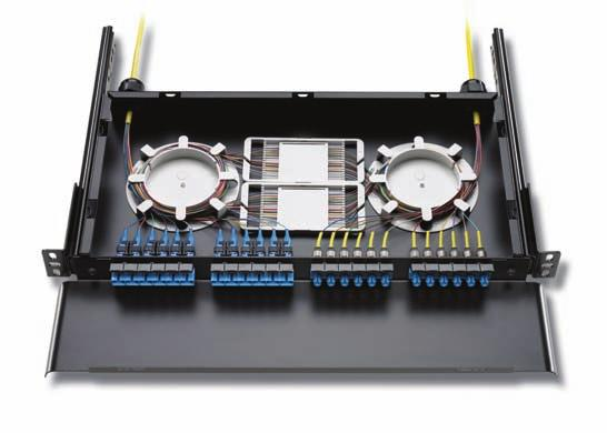 F I B E R S O L U T I O N S Fiber Combination Enclosure Lower density 1U and 2U combination shelves can also be assembled with adapters and pigtails Glossary/Index Packaging Conduit Multi-Conductor