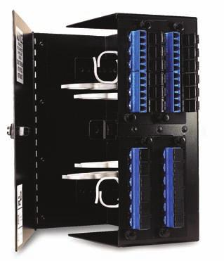 "The WFE-EMT-XX/2P wall mount fiber enclosures are 8.75"" high x 7.5"" wide x 3"" deep and can hold 2 adapter panels or up to 12 mechanical or 16 single fusion splices."
