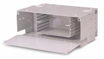 F I B E R S O L U T I O N S Fiber Enclosures Rack Mounted CommScope offers several fiber management shelves, including splice, jumper management, termination and combination shelves.