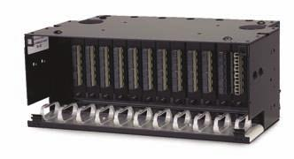RFE-FXD-EMT-BK/4U Rack Mounted Catalog Number Terminations Splices Dimensions Description RFE-FXD-EMT-BK/4U Up to 288 LC 7 h X 17 w X 11 d 7 shelf for RFE-FXD-EMT-WH/4U Up to 144 SC None 4U rack