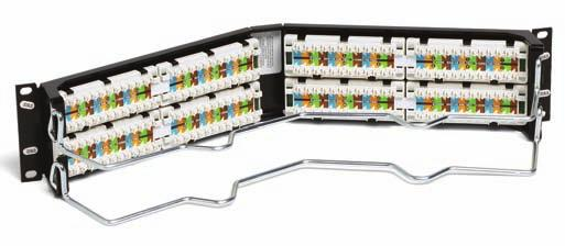 A rear cable management bar can be quickly mounted directly onto the rear of the panels without any hardware.
