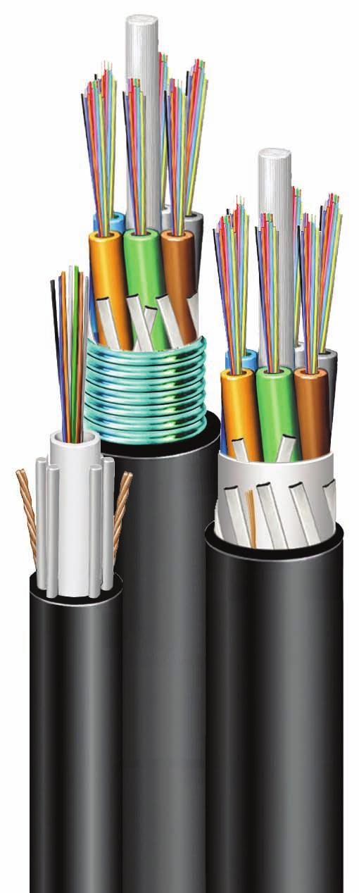 F I B E R S O L U T I O N S Outside Plant Cables Robust Dielectric and Armored Constructions Glossary/Index Packaging Conduit Multi-Conductor Coax Cables Copper Uniprise All CommScope Outside Plant