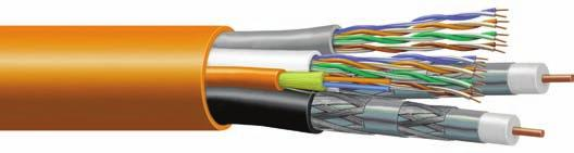 M U L T I - C O N D U C T O R UltraHome Subunit Cables Specifications Used In Hybrids Glossary/Index Packaging Conduit Residential Coax Fiber Copper Uniprise Coaxial Component Cables Twisted Pair