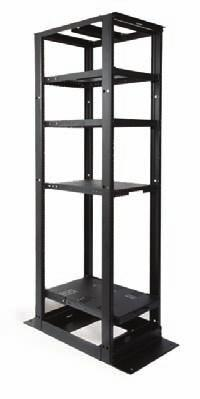 E N C L O S U R E S Racks and Cable Management 4 Post Racks and Shelves Material ID Catalog Number Description 760082529 RK4P45-29A 29 in D x 7 ft H - 19 in Al Equipment Rack (45U), 12-24 Tapped
