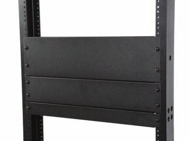 Hardware Included with 4 Post Racks: Instruction sheet, (12) Mounting screws Racks and Cable Management Filler Panels Material ID Catalog Number Description 760085712 RKFP1U-B 1U 19 in