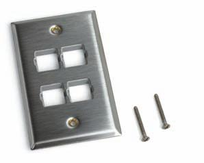 W O R K S T A T I O N P L A T F O R M S & A C C E S S O R I E S Faceplates (Flush Mount) SP-L Type (Stainless Steel - Labeled) Faceplates SP-L Type Faceplates are flush-mounted US standard stainless