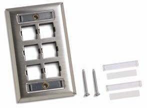 4 cm) M14SP-L 4 Port with label field M16SP-L 6 Port with label field Faceplates (Flush Mount) SP Type (Stainless Steel) Faceplates SP Type Faceplates are flush-mounted US standard stainless steel