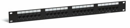 C O P P E R S O L U T I O N S Patch Panels 10/100 Base-T Patch Panels Glossary/Index Packaging Conduit Multi-Conductor Coax Fiber Voice Grade Uniprise Systems UNP550 modular patch panels are equipped
