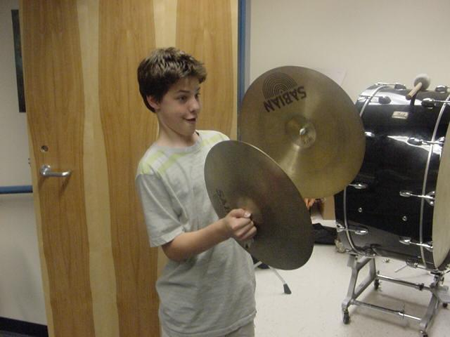 Not only do the students learn to play drums, they must know how to play many other instruments as well.