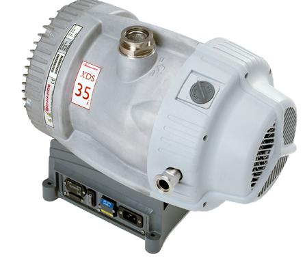 Performance Curves XDS35i Scroll vacuum pump XDS35i XDS35i Performance Curve Peak pumping speed 40 35 m 3 h - ( ft 3 min - ) Ultimate Pressure x 0 - mbar (8 x 0-3 Torr) (m 3 h - ) 35 30 5 0 5 0 5